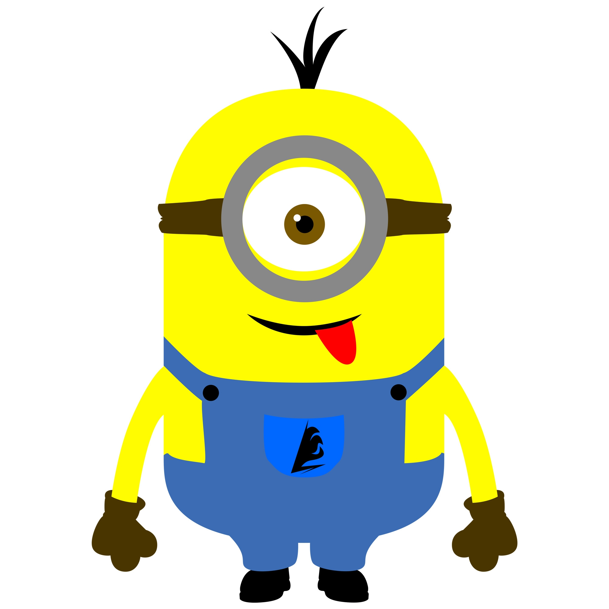 one eye minion clipart black and