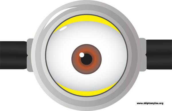 Minion Eye Clipart.
