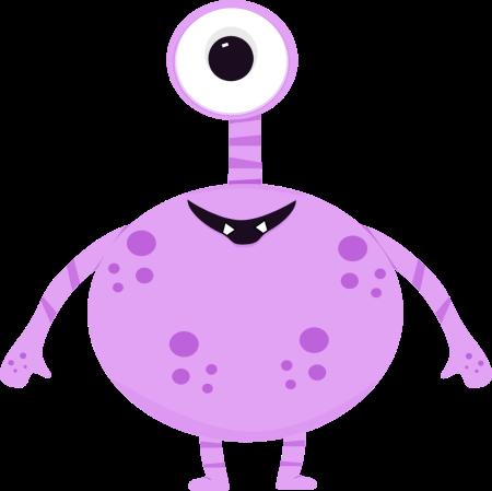 One Eyed Monster Clip Art.