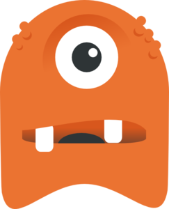 Orange One Eyed Monster Clip Art at Clker.com.