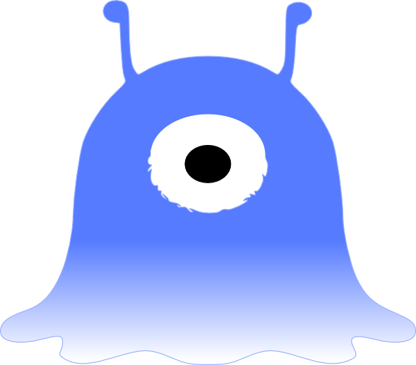 Blue One Eyed Monster Clip Art at Clker.com.