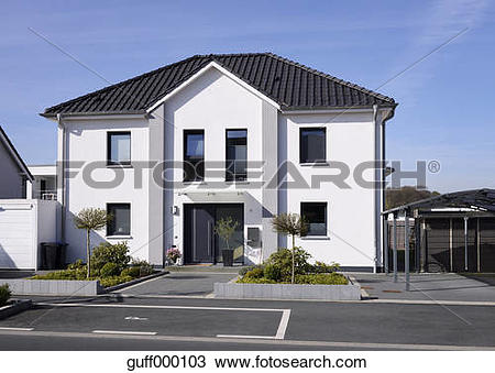 """Stock Photo of """"Germany, Langenfeld, new built one."""