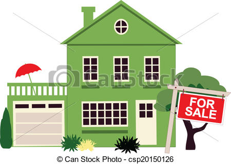 Vector Illustration of Home for sale.