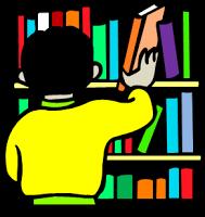 Shelf Of Books Clip Art.