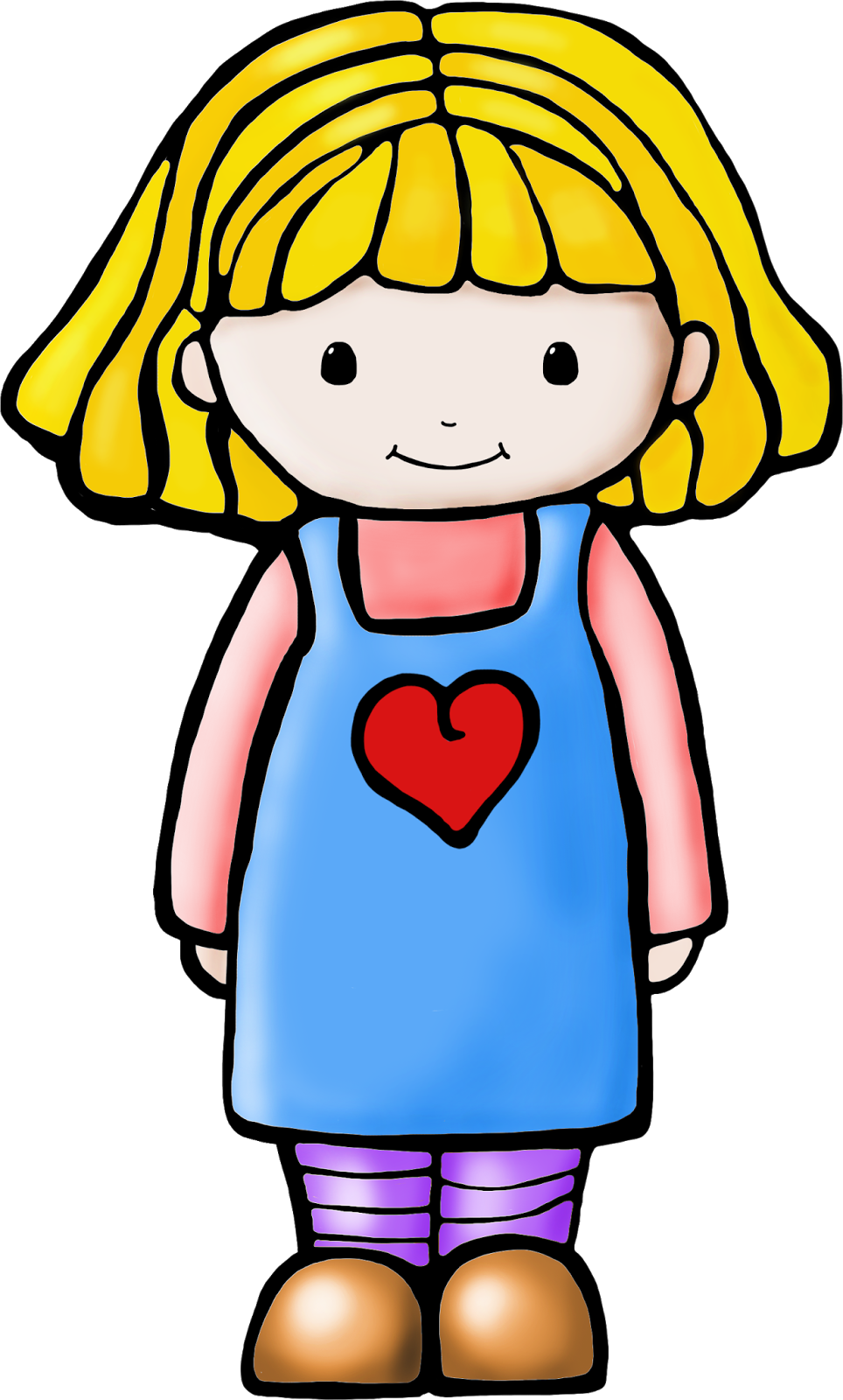 65+ Clipart Of A Girl.