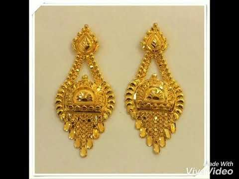 Today Fashion Gold Earrings Designs Images.