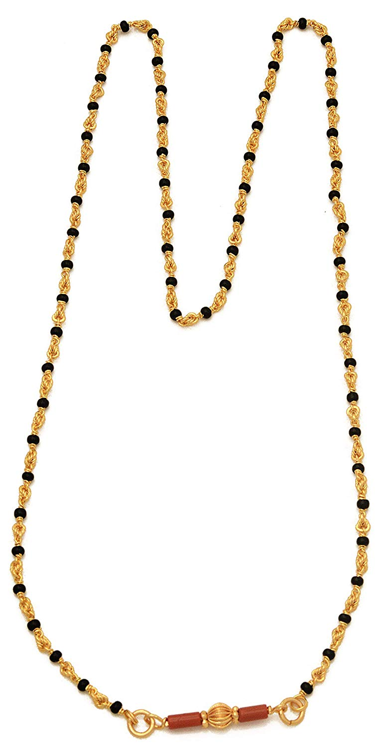 Radha\'s Creations Traditional Mangalsutra Black Beads and.