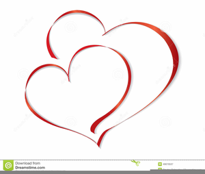 One Heart Wedding Clipart.
