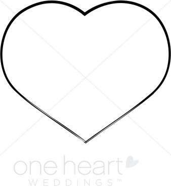 Black And White Hearts Wedding Graphic.