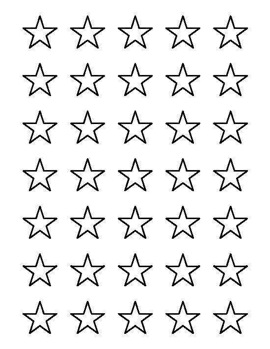 Star outline images 1 inch star pattern use the printable.