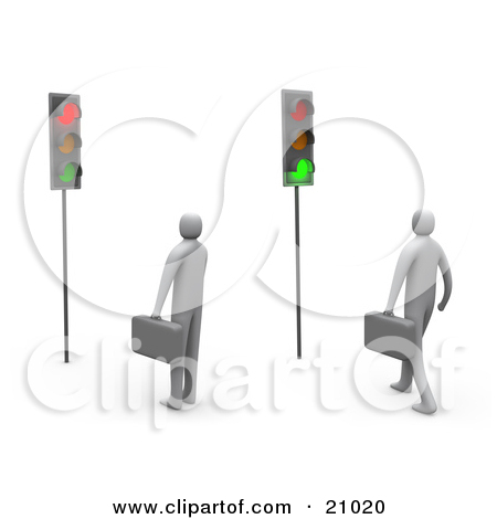 Clipart of a Traffic Light Icon.