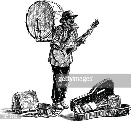 one man band Clipart Image.