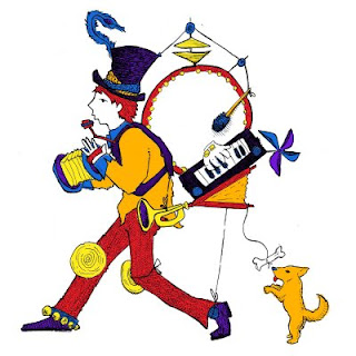 One Man Band Clipart.