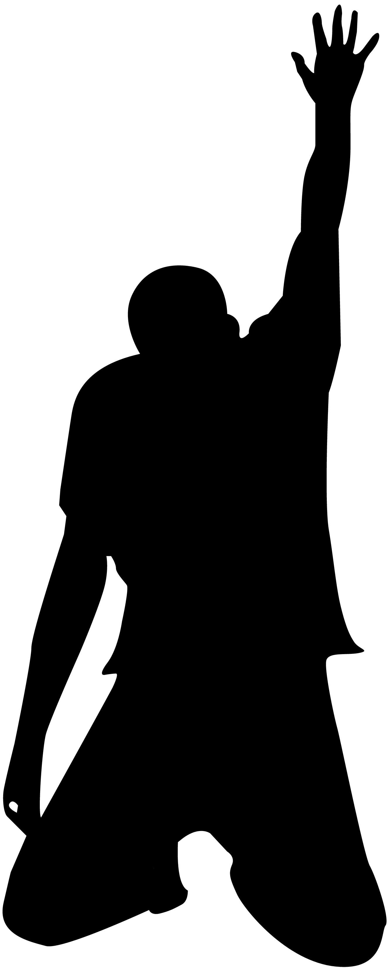 Man Praying Clipart Silhouette Ground.