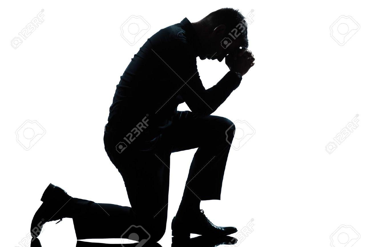 One Man Praying Clipart.