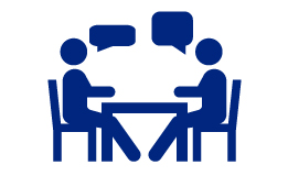One To One Meeting Clipart.