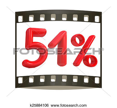 "Stock Images of 3d red ""51""."