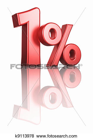 Stock Illustration of Glossy Red One Percent k9113978.