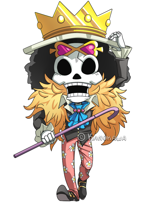 One Piece: Brook Chibi by Kanokawa.