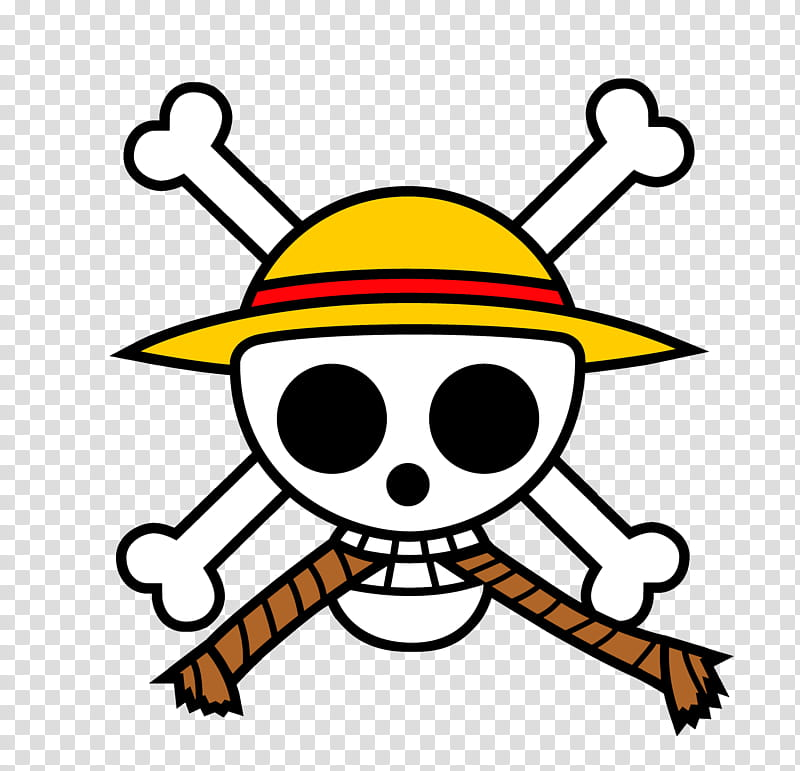 One Piece Skull logo transparent background PNG clipart.