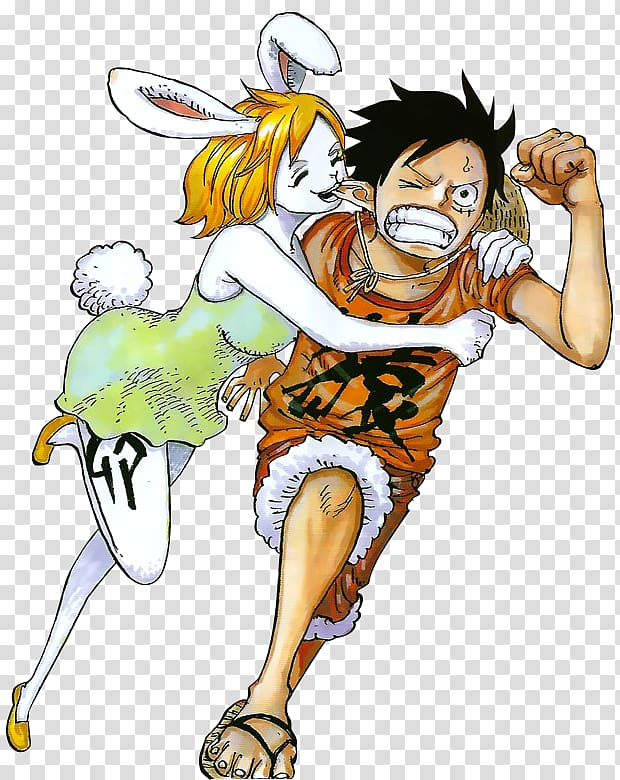 Monkey D. Luffy One Piece Manga Anime Color, carrot one.