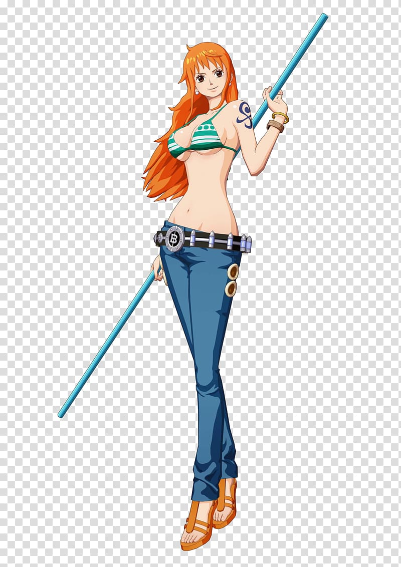 One Piece Nami illustration, One Piece: Unlimited World Red.
