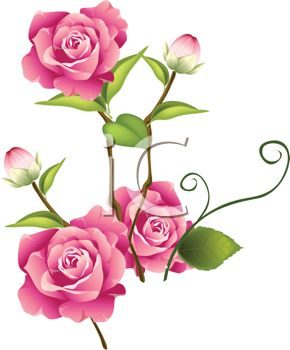 clipart flowers roses.