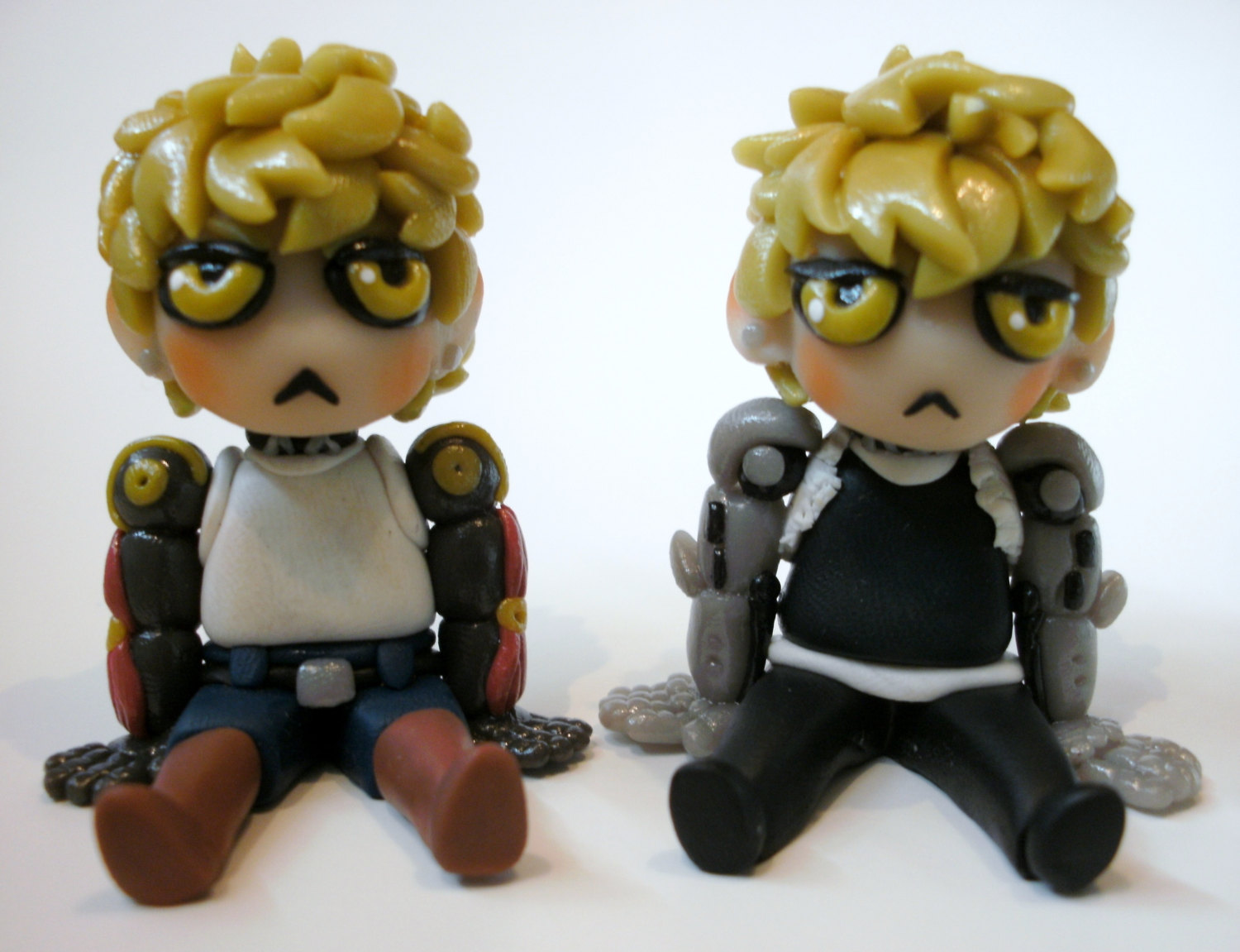 One Punch Man Genos Clay Figure.