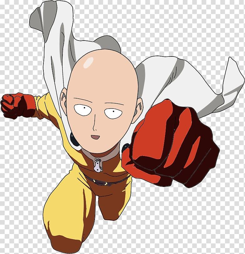 One Punch Man Anime Saitama Manga, one punch man transparent.