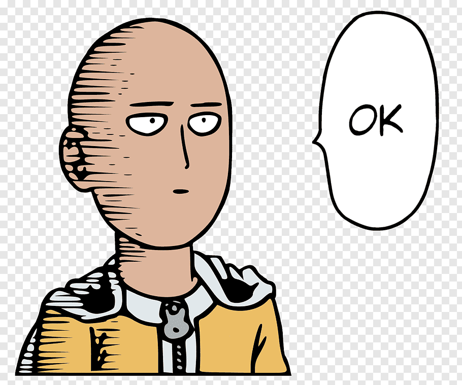 One Punch Man Saitama saying Ok comic book strip, One Punch.
