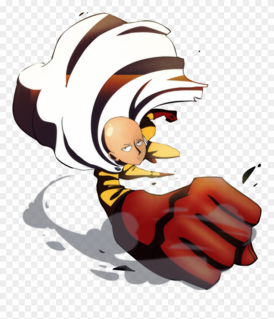 One Punch Man Clipart Flying.