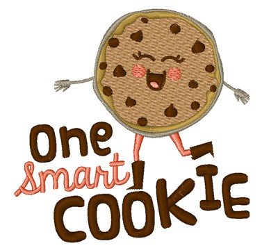 Smart Cookie Embroidery Designs, Machine Embroidery Designs.