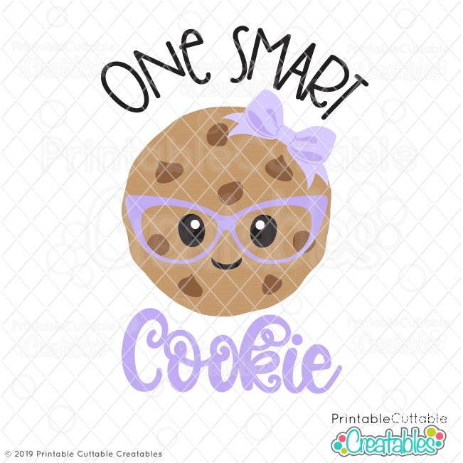One Smart Cookie Girl SVG File for Cricut & Silhouette.
