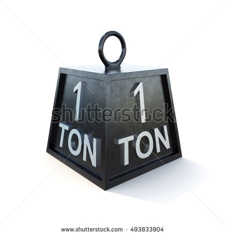Ton Weight Stock Images, Royalty.