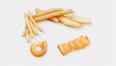 One Wavy French Fry Clipart.