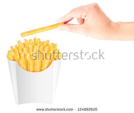 Golden French Fries Stock Photos, Royalty.