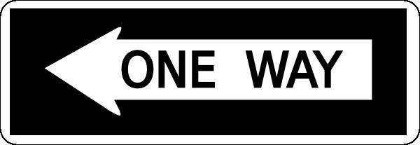 One Way Left Clip Art at Clker.com.