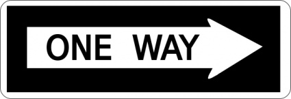 One Way Sign clip art Clipart Graphic.