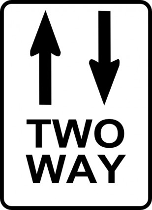 One Way Sign Clip Art.