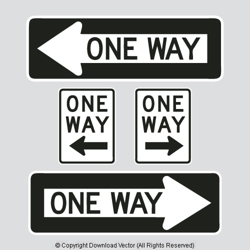 One Way Street Sign.