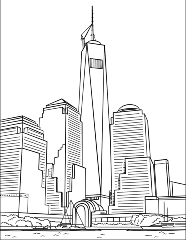 One World Trade Center coloring page.