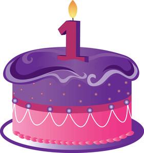 Birthday Cake One Year Clipart.