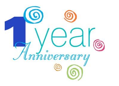 One Year Anniversary Clip Art.