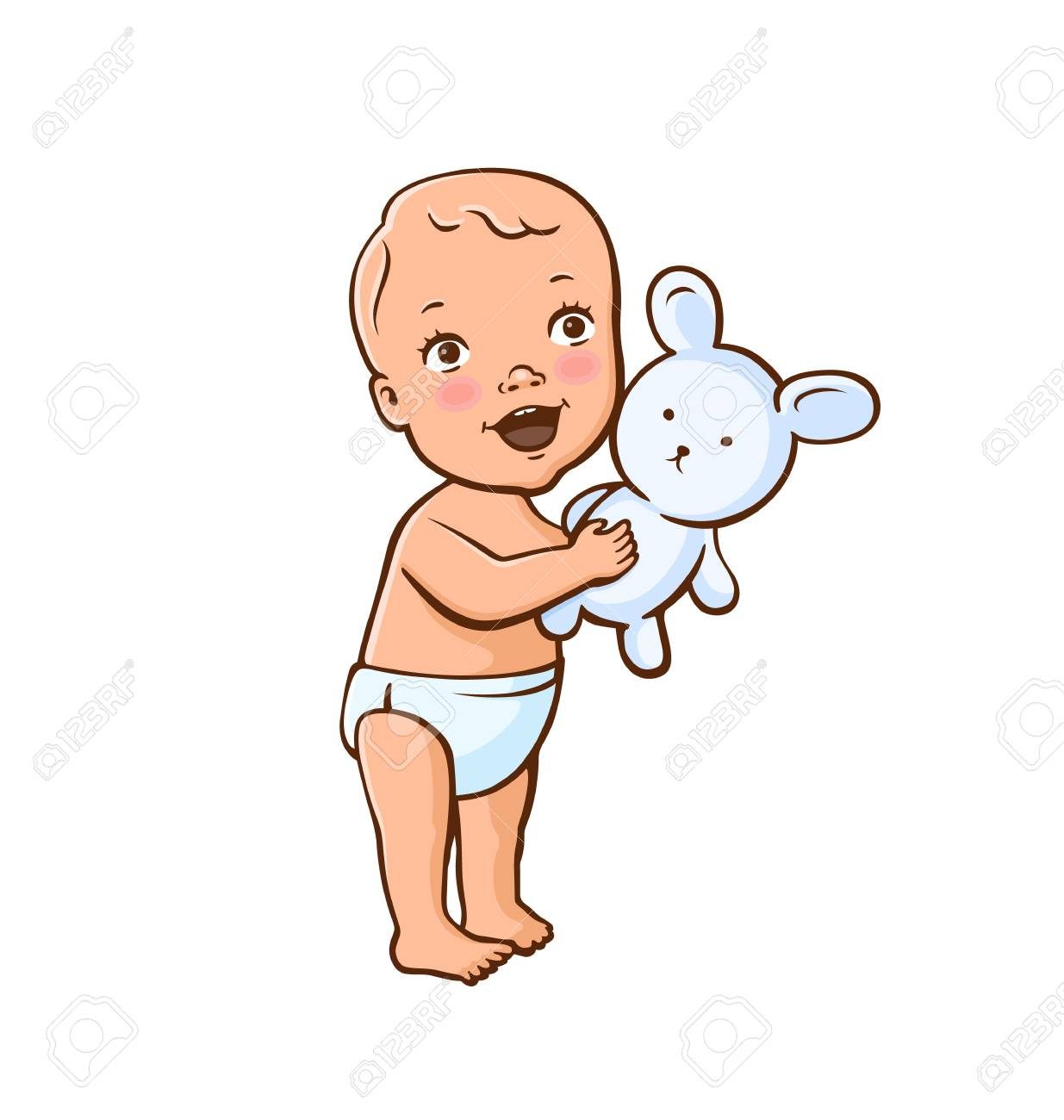71881 Baby free clipart.