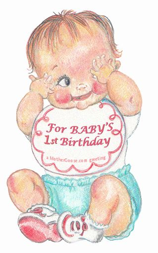 One Year Old Baby Clipart.