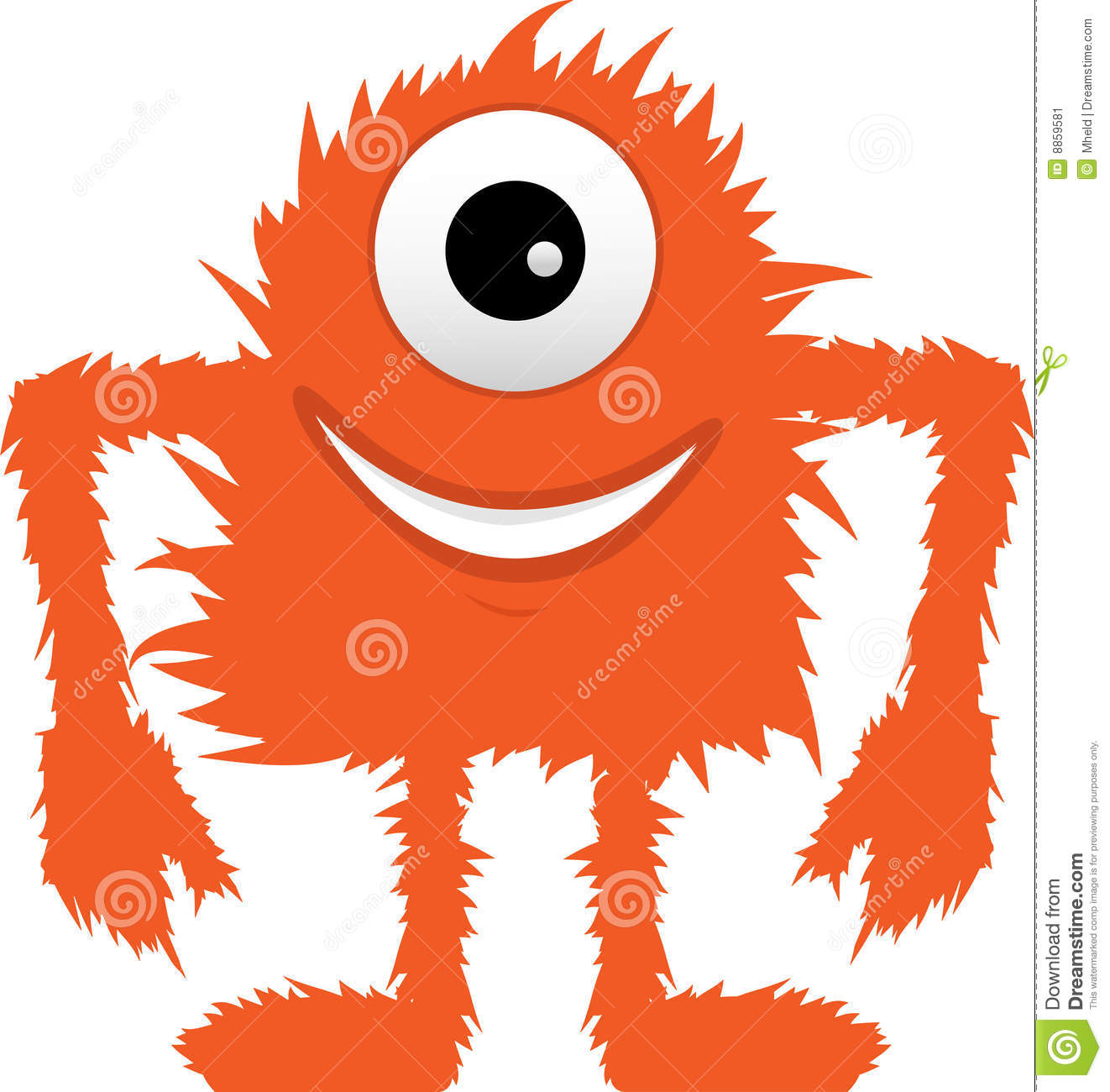 More Similar Stock Images Of Furry Fuzzy Orange One Eyed Monster.