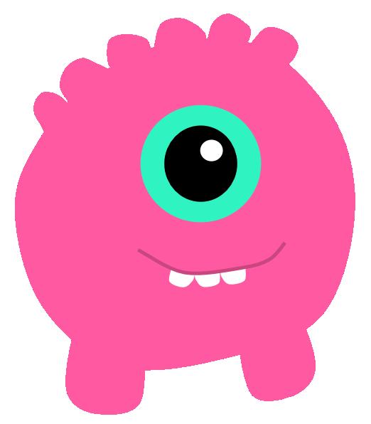 One eye monster clipart.