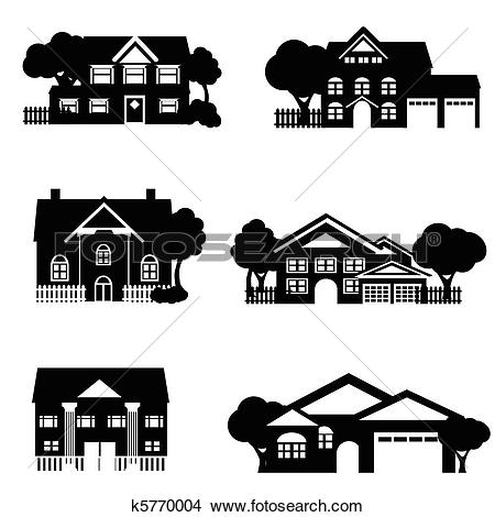 Single family Clipart Illustrations. 2,398 single family clip art.