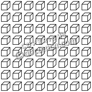 Place Value Blocks Clipart.