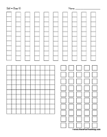 Base Ten Blocks Rods Clipart.
